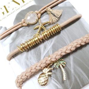 Gemtye Pink Sands Stack Hair Ties/Bracelets